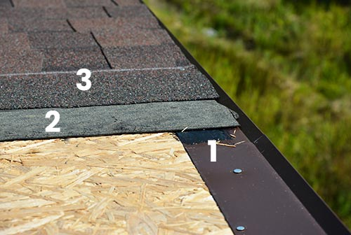 process used to install drip edge flashing