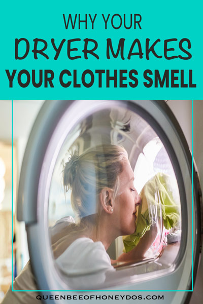 clothes dryer smell pin for pinterest