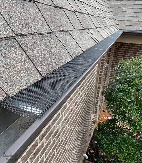gutter guards install partially complete