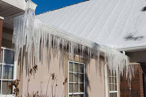 iced over gutters