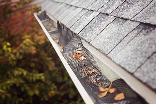 collapsed mesh gutter guards