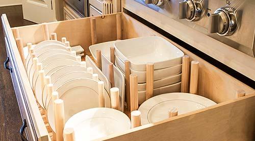 dish drawer organizer side view