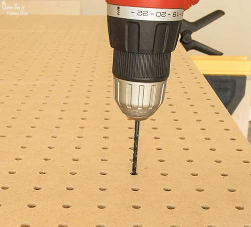 drilling pegboard hole pattern