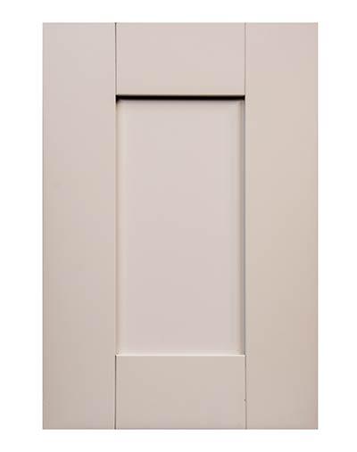 white shaker door