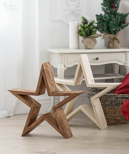 large wooden stars DIY