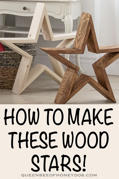 How to make wood stars - pin