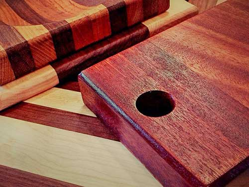 purpleheart cutting boards