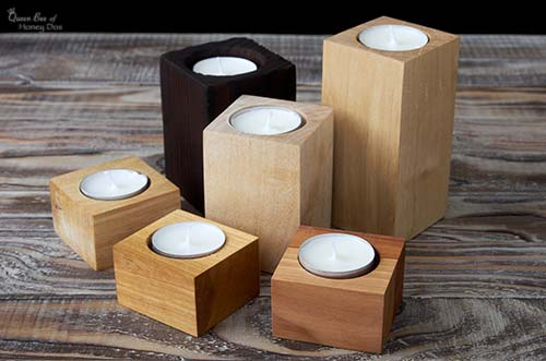 DIY tealight candle holders