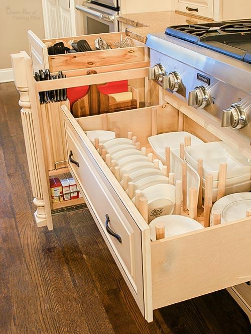 custom kitchen drawer organizers