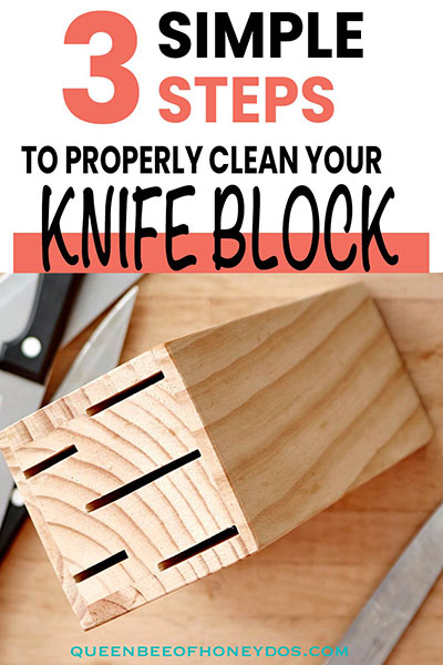 How to clean a knife block pinnable image