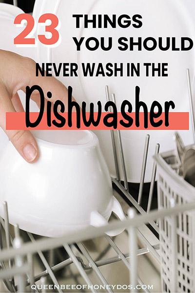 Things You Should Never Wash in a Dishwasher - pin image