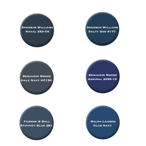 best navy blue cabinet color options