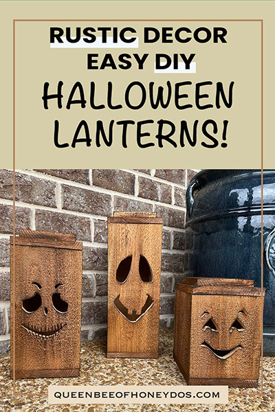 rustic Halloween lanterns pin