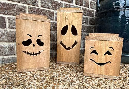 unfinished Halloween lanterns