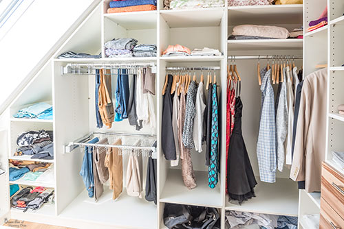 sloped ceiling closet solutions